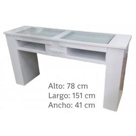 Mesa de manicura larga para dos
