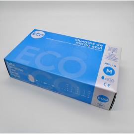 Guantes de nitrilo azul M